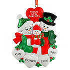 Proud New Parents Snow Family Personalized Christmas Ornament