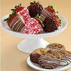 6 Sweetheart Berries & 4 Dipped Cookies
