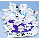Polar Bears Personalized Family Ornament
