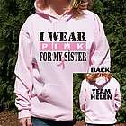 I Wear Pink Breast Cancer Hooded Sweatshirt