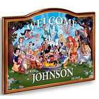 Personalized Magic Of Disney Wooden Welcome Sign