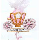 Personalized Princess Carraige Christmas Ornament