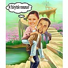 Fairytale Romance Caricature from Photos