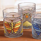 Frank Lloyd Wright Butterfly Window Tumblers