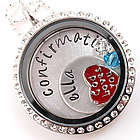 Holy Confirmation Themed Floating Glass Locket
