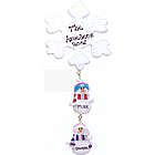 Personalized Snowflake and Snowmen Linking Family Ornament