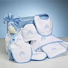 Personalized Layette Collection Set for Baby Boy