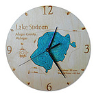 Personalized Custom Etched Lake Wall Clock