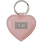 Heart Shaped Pink Leather Key Chain