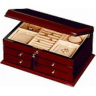 Teak Two Drawer Jewel Box