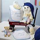 Hello Baby! Welcome Wagon with Plush Teddies