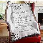 Personalized Wedding Invitation Throw
