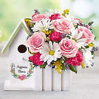 Large Happiness Blooms Pink Birdhouse Bouquet