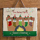 Personalized Stocking Family Christmas Slate Plaque
