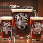 Personalized Golfer Design Two Pint Glass & Pitcher Set
