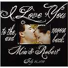 Personalized I Love You to the Moon And Back Frame