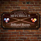 Personalized Billiard Room Handcrafted Wooden Sign