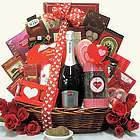 Sweet Devotion Extra Large Valentine's Day Wine Gift Basket