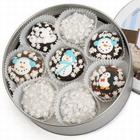 Winter Tin of 16 Chocolate Dipped and Decorated Oreos