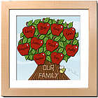 Personalized Family Tree Design 12x12 Framed Print