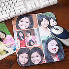 Personalized Vertical Photo Montage Mouse Pad