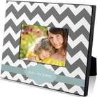 Gray Chevron Print Custom Picture Frame