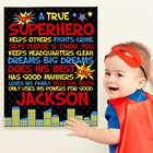 Kid's Personalized Superhero Canvas Art Print