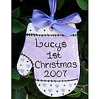 Personalized Baby Mitten Ornament