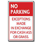 No Parking Wooden Sign