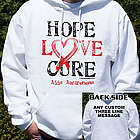 Hope, Love, Cure AIDS Awareness Hooded Sweatshirt