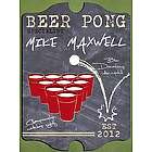 Vintage Personalized Beer Pong Specialist Bar and Pub Sign