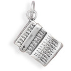 Holy Bible Sterling Silver Charm Pendant