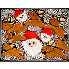 Santa and His Reindeer Cookie Tin