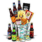 Beer Sampler and Honey Mustard Popcorn Gift Basket