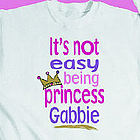 Not Easy Being Princess Youth Sweatshirt