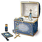 Heirloom Porcelain Musical Prayer Box