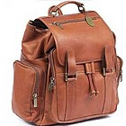 Jumbo Size Traveler Leather Backpack