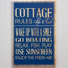 Small Personalized Beach House Canvas Print