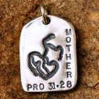"""Mother"" GodTag Sympathy Pendant"
