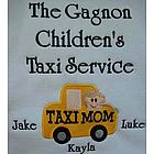 Taxi Mom Personalized Family Shirt