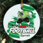 Personalized Ceramic Football Player Ornament