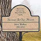 Personalized Forever in Our Hearts Memorial Garden Stake