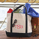 Deluxe Weekender Raised Monogram Embroidered Tote