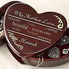 Why I Love You Wood Heart Box