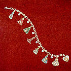 Scarlett's Gone with the Wind Costumes Charm Bracelet