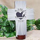Personalized In Our Hearts Forever Memorial Wall Cross