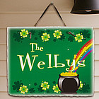 Irish Rainbow Welcome Slate Plaque