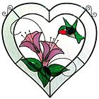 Hummingbird Beveled Heart