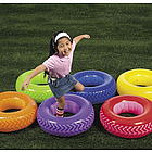 6 Piece Inflatable Obstacle Course Tire Set