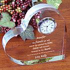 Friends Forever Keepsake Heart Clock